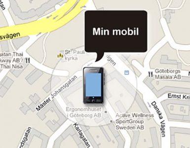 Hitta Bortappad eller Stulna mobiltelefon